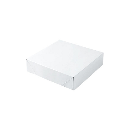 White Gloss Gift Boxes 6-1/2x6-1/2x1-5/8
