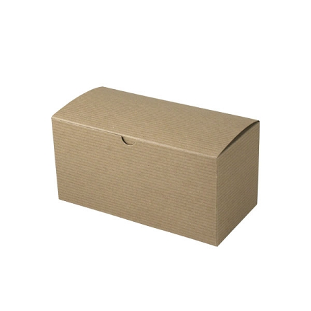 Recycled Natural Kraft Groove Gift Boxes 9x4-1/2x4-1/2