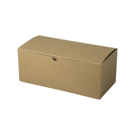 Recycled Natural Kraft Groove Gift Boxes 10x5x4