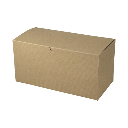 Recycled Natural Kraft Groove Gift Boxes 14x6x6