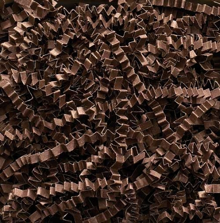 Crinkle Cut Paper 8 oz (1/2 lb) Chocolate