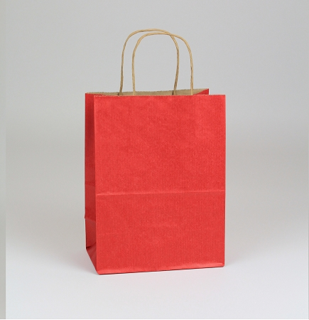 Shopping Bag SS Really Red 8x4.75x10.5