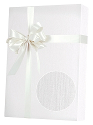 White Linen Embossed Wrapping Paper