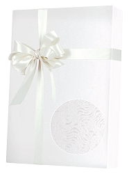 White Grain Embossed Wrapping Paper