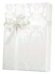 Gothic Flourish Pearl White Wrapping Paper