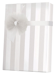 White on White Stripe Wrapping Paper