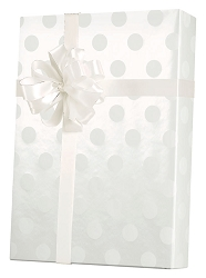 Polka Dot Pearl Wrapping Paper