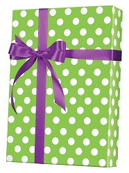 Lime Sunny Dots Wrapping Paper
