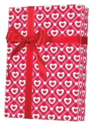 Heart Lattice Wrapping Paper