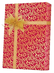 Scrolled Hearts Wrapping Paper