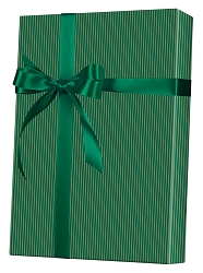 Gold & Green Stripe Wrapping Paper