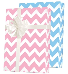 Baby Chevron Reversible Wrapping Paper