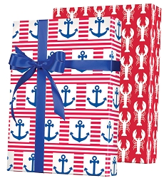 Ship Ahoy! Reversible Wrapping Paper