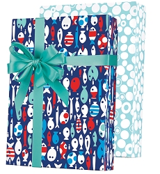 Gone Fishin' Reversible Wrapping Paper