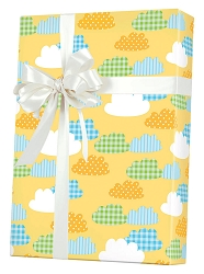 Gingham Clouds gift Wrapping Paper