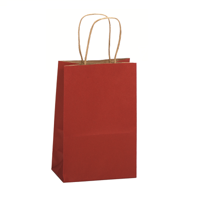 Gem Shopping Bag Scarlet 5.5x3.25x8.375