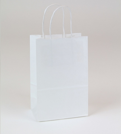 Gem White Kraft Shopping Bag 5.5x3.25x8.375