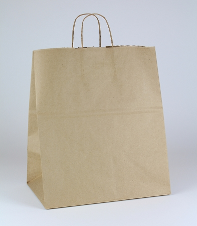 100% Recycled Natural Kraft Shopping bag 14.5x9x16.25
