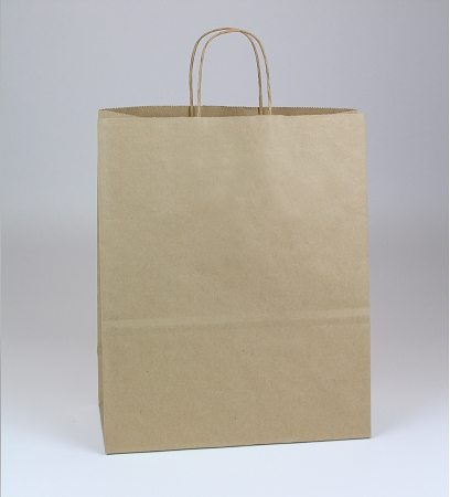 100% Recycled Natural Kraft Shopping bag 13x6x16