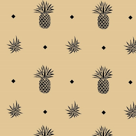Pineapple Finial Black 20 x 30