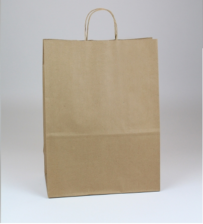 100% Recycled Natural Kraft Shopping bag 13x7x17