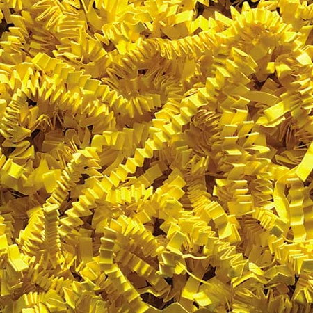 Crinkle Cut Paper 8 oz (1/2 lb) Yellow