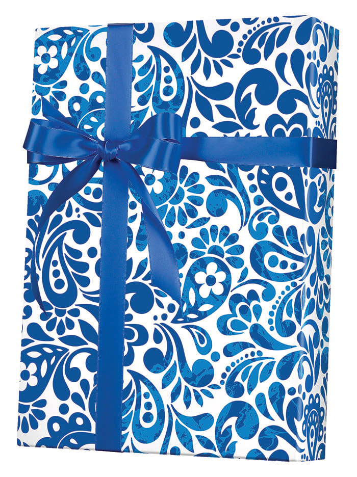 Batik Scroll Wrapping Paper