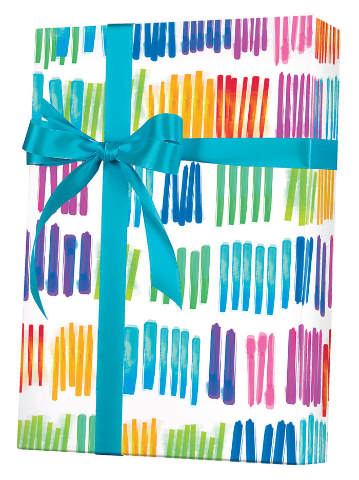 Watercolor Rainbow Wrapping Paper