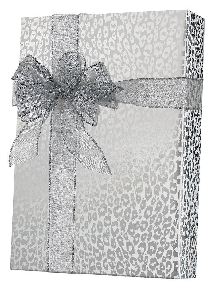 Silver Cheetah Wrapping Paper