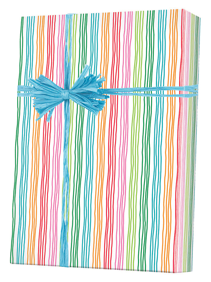 Stringy Stripes gift Wrapping Paper