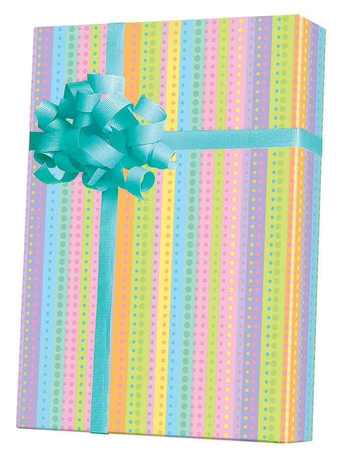 Dotty Stripe gift Wrapping Paper