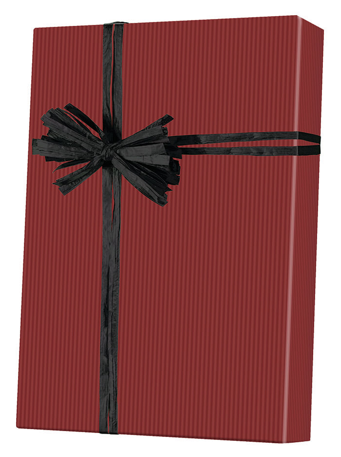Dark Red/Kraft Wrapping Paper