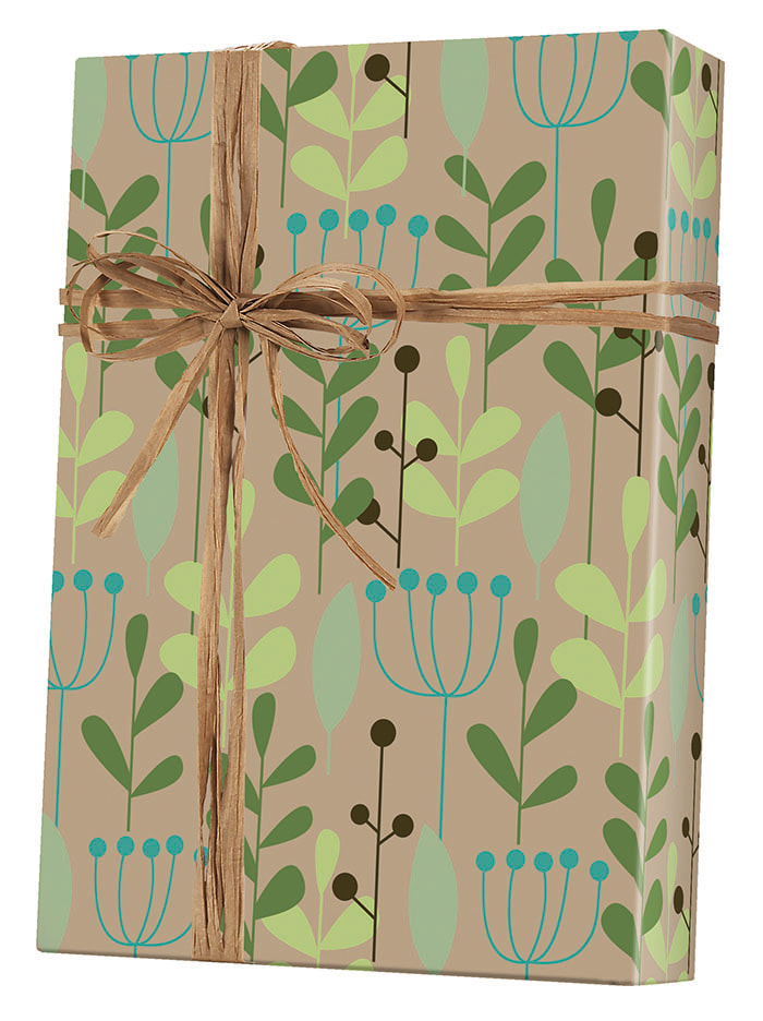 Leaves & Berries/Kraft Wrapping Paper