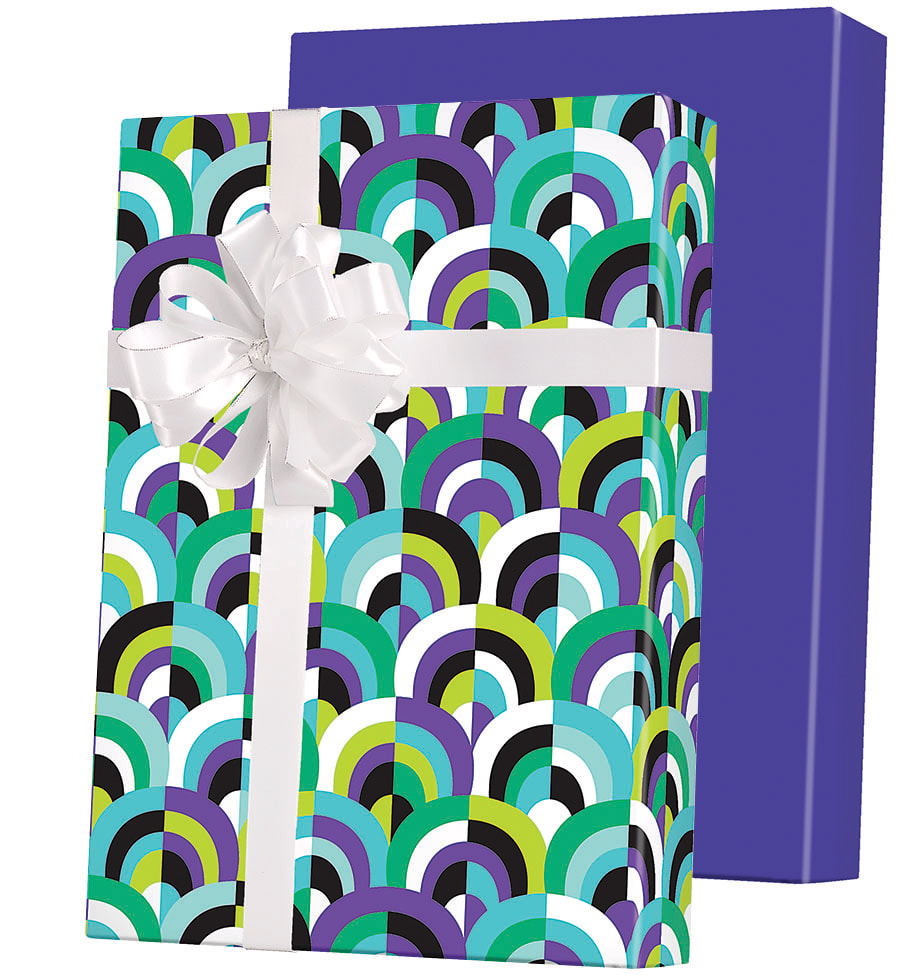 Arch Deco Reversible Wrapping Paper