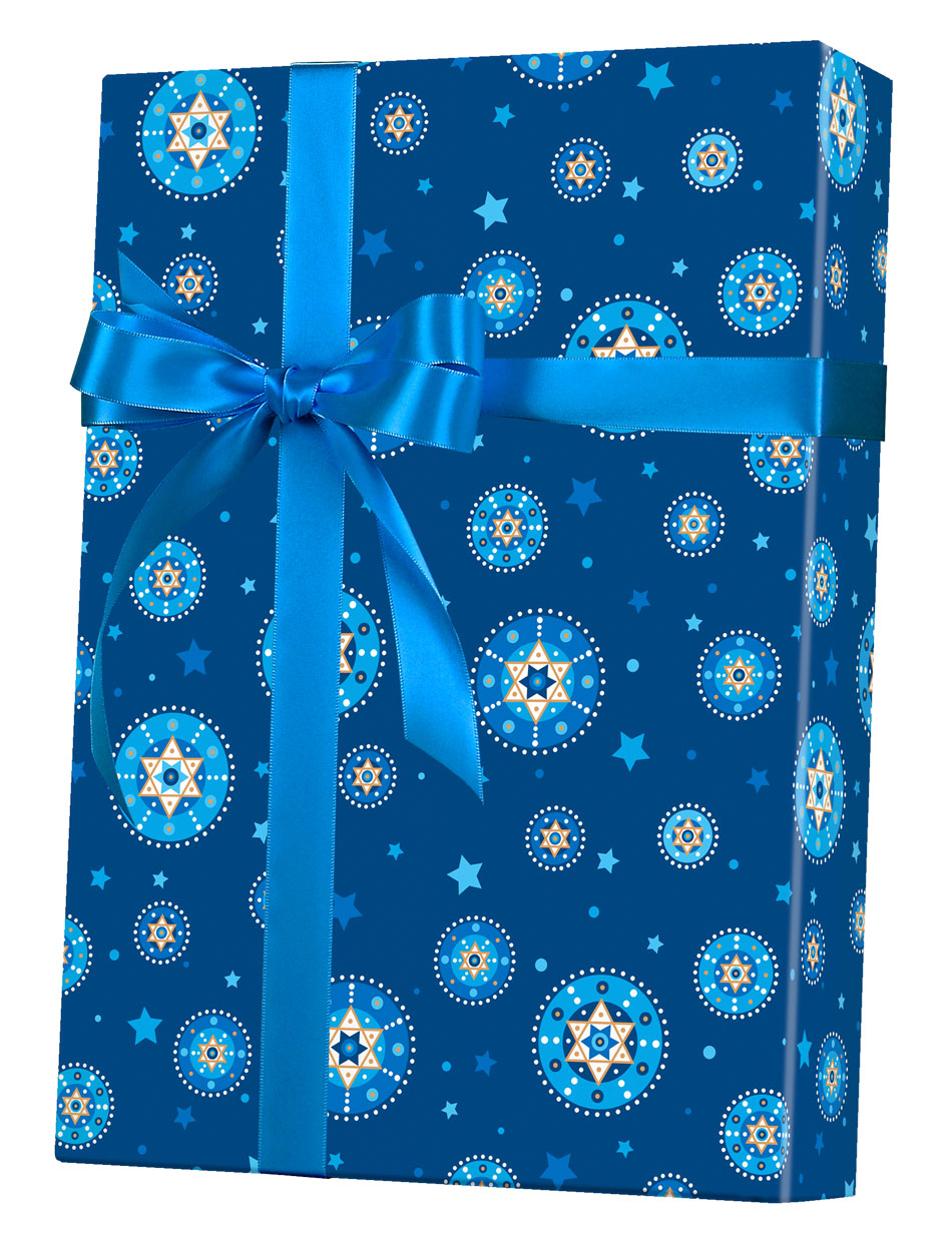 Starry Chanukah Wrapping Paper