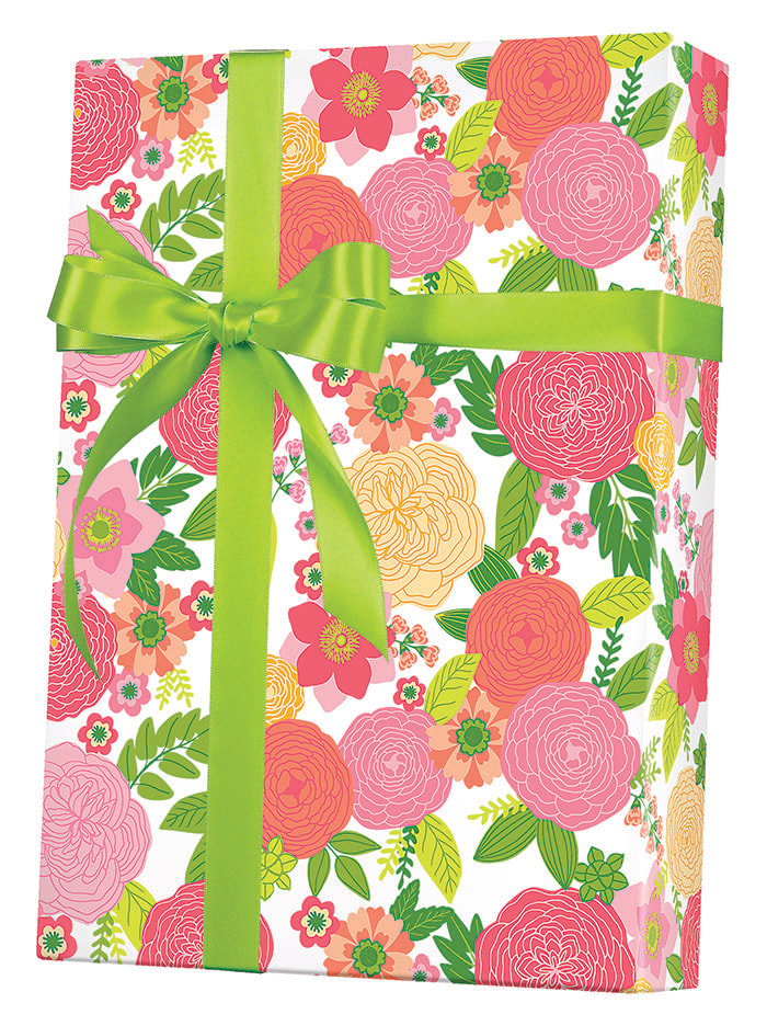 Rose Floral Wrapping Paper