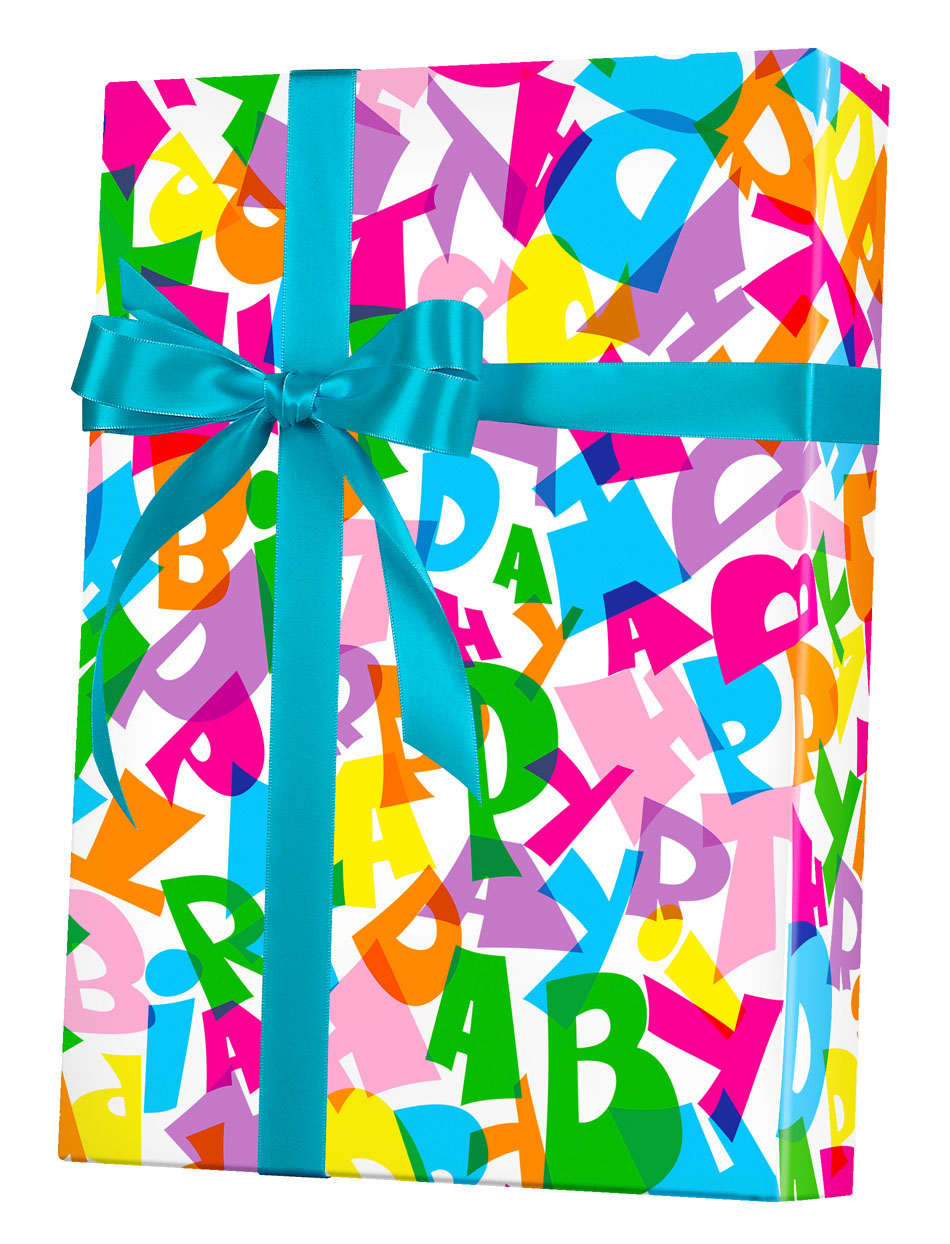 Happy Birthday Type Wrapping Paper