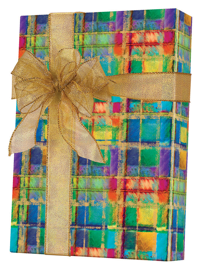 Power Plaid Wrapping Paper