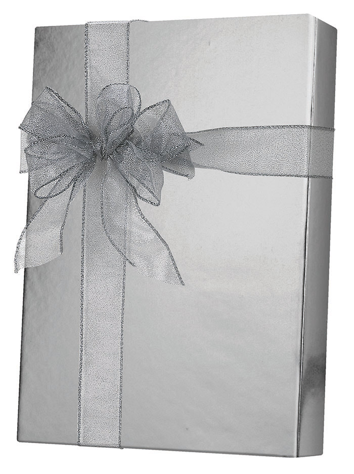 Silver Metallic Metallized Wrapping Paper