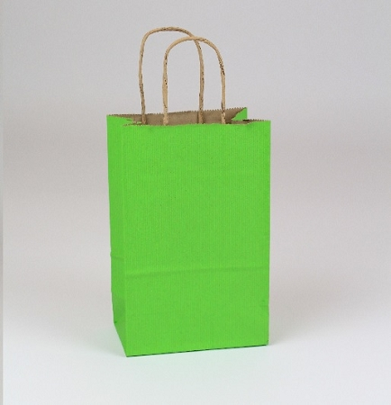 Shopping Bag SS Apple Green 5.5x3.25x8.375