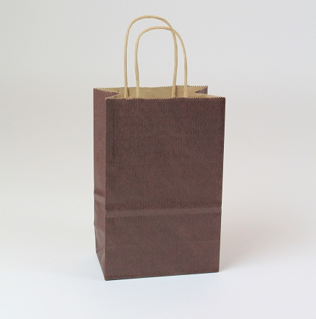 Shopping Bag SS Chocolate 5.5x3.25x8.375