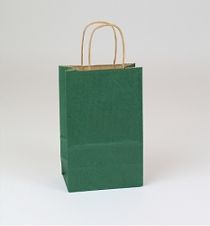 Shopping Bag SS Forest Green 5.5x3.25x8.375