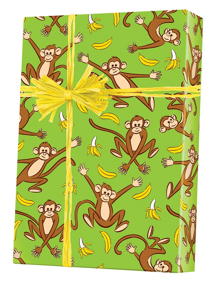 Go Bananas Reversible Wrapping Paper