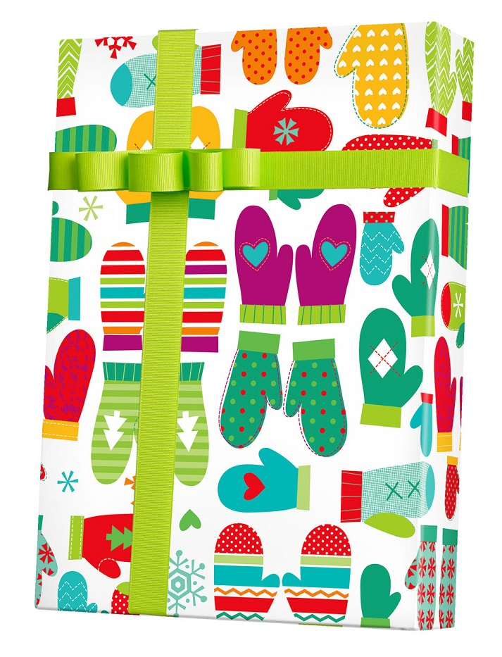 Mod Mittens Wrapping Paper