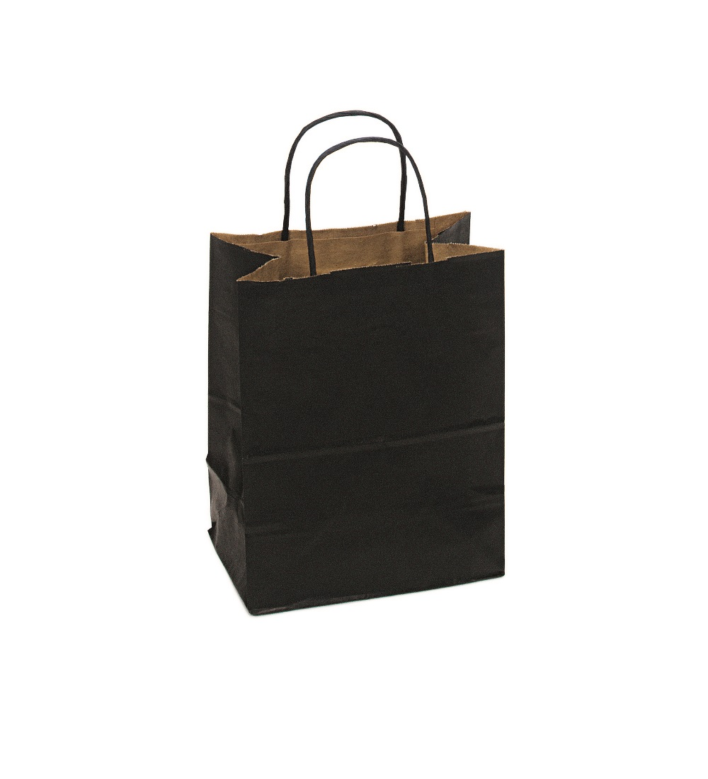 Cub Shopping Bag Black 8x5x10