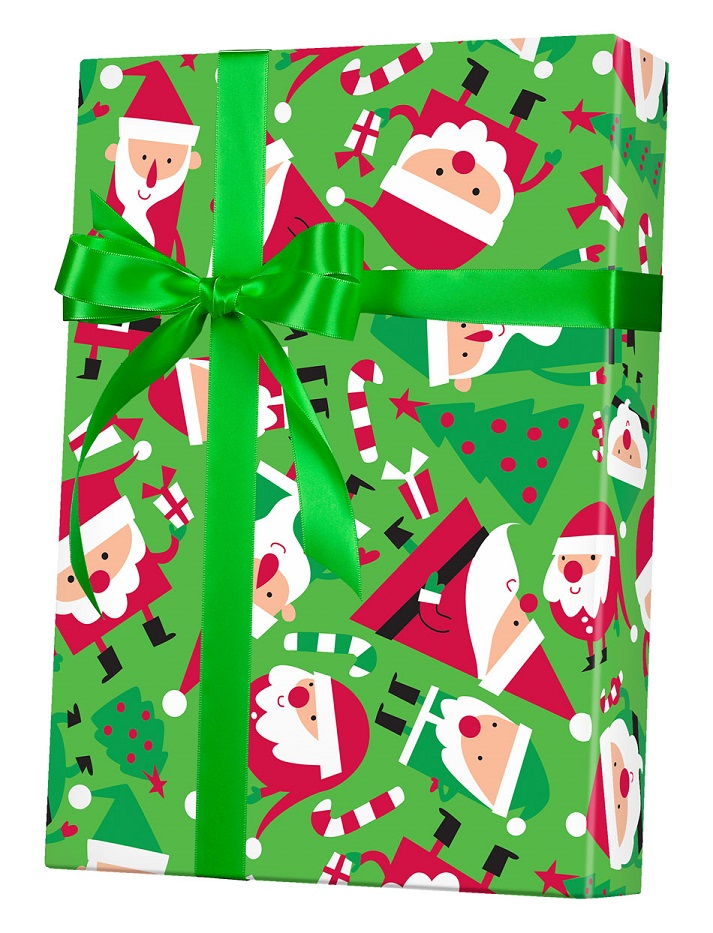 Santa Soiree Wrapping Paper