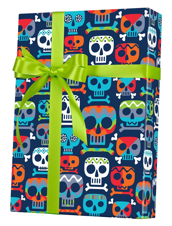 Skull Totem Reversible Wrapping Paper