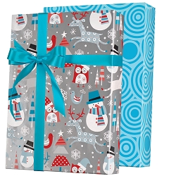 Snowplay Reversible Wrapping Paper