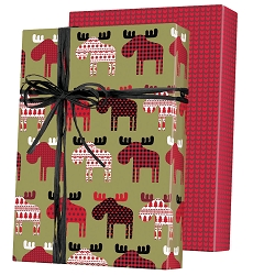 Material Moose Reversible Wrapping Paper