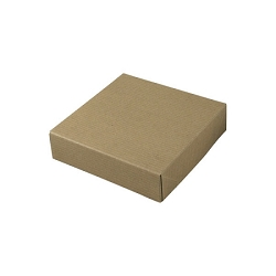 Recycled Natural Kraft Groove Gift Boxes 6-1/2x6-1/2x1-5/8